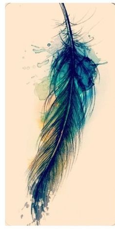 Water color feather