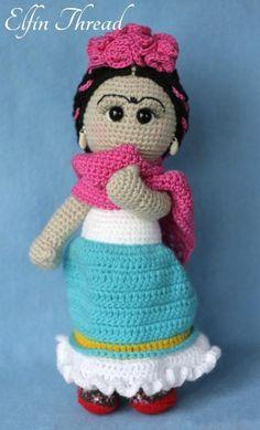 (4) Name: 'Crocheting : Frida Kahlo Doll