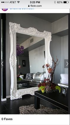 Victorian style mirror