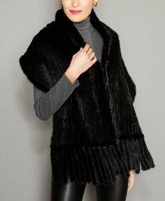 The Fur Vault Knitted Mink Fur Stole - Black Mink Stole, Fur Clothing, Clothing Accessories, Plus Size Activewear, Mink Fur, Trendy Plus Size, Fur Jacket, Juicy Couture, Winter Fashion