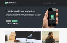 Martial - modern looking #WordPress #theme for #bloggers, writers, photographers etc.