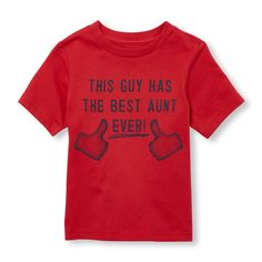 Toddler Boys Short Sleeve 'This Guy Has The Best Aunt Ever' Graphic Tee