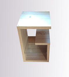 Beistelltisch Tisch Nachttisch Nachtkommode Glas Sonoma Eiche
