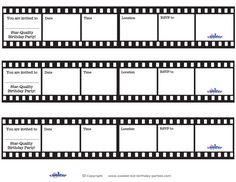 Printable Film Strip Invitations - Coolest Free Printables