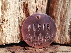 Dog tags for dogs, 'Forest' Hand Stamped Dog Tag Custom Dog Tags, Personalized Dog Tags, Dog Id Tags, Pet Tags, Group Of Dogs, Pet Id, Pet Collars, Dog Names, Dog Accessories