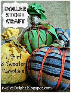 #Dollar Store Craft #Tshirt #Sweater #Pumpkins