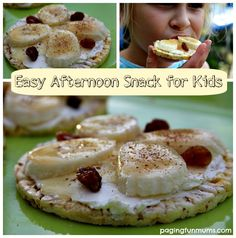 Banana Rice Cakes - Healthy Afternoon Snack for Kids