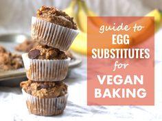 Vegan Baking Egg Substitutes: Guide + Cheat Sheet