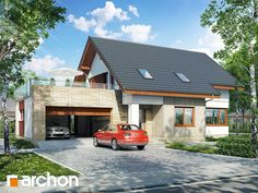 Dom w glosterach Bungalow House Design, Cottage Homes, Home Fashion, Home Renovation, Exterior Design, Home Projects, Facade, House Plans, Loft