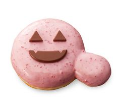 Mister Donut's Ghost Whipped Cream Strawberry Donut (お化けホイップ)