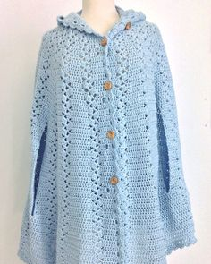 Picture of Long Hooded Cape Crochet Pattern More