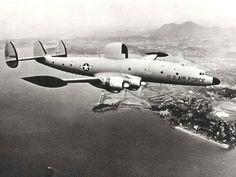 Lockheed C-121 Super Constellation at Hickam Air Force Base, Hawaii, 1960s