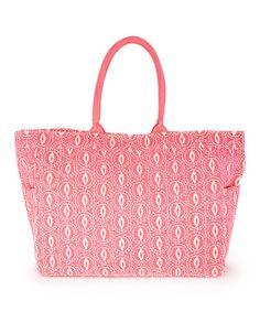 Look at this #zulilyfind! Pink Ashley Carryall Tote #zulilyfinds