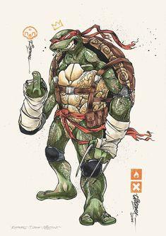 BROTHERTEDD.COM - pixalry: Ninja Turtles! - Created by Clog Two Ninja Turtles Shredder, Ninja Turtles Art, Teenage Mutant Ninja Turtles, Geeks, Tmnt Characters, Nemo, Bd Comics, Fan Art, Art Series