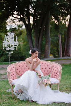 Refined sophistication ~ 3 Unique Looks For One Kitty Chen Wedding Dress Photograph by Valentina Glidden Photography  http://www.storyboardwedding.com/sophisticated-bohemian-bridal-style-from-floral-crowns-bridal-headscarves-to-perfectly-pinned-dos/