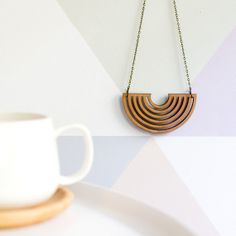 Modern+Wooden+Half+Circle+Necklace+by+SevenSparrowsGoods+on+Etsy,+$26.00