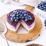 missing berry season you can still get your fix with delightfully berry filled treats like this No Bake Layered Blueberry Cheesecake it uses freeze dried blueberries for a burst of flavor and frozen berries for the jammy top layer this is the perfect alternate treat for the holidays too if you want a spiceless dessert to grace your dessert table too even the gluten lovers will want a slice of this gluten free paleo vegan cheesecake its just that good get the recipe here or linked in my…