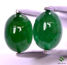 3.01 Cts Certified Natural Emerald Oval Cabochon Pair 8x6 mm Dark Green Shade Untreated Loose Gemstones Natural Emerald, Shades Of Green, Loose Gemstones, Christmas Bulbs, Dark, Holiday Decor, Unique Jewelry, Handmade Gifts, Nature