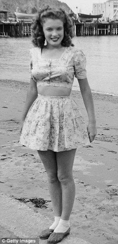 Norma Jeane Dougherty (first husband's last name) at the age of 16 or 17 in 1943