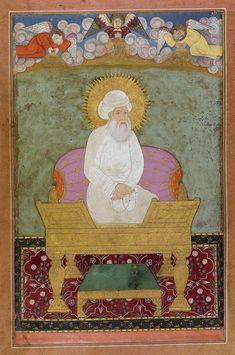 A portrait of Shaykh Abd al-Qadir Jalani enthroned, India, Mughal, circa 1680 | lot | Sotheby's