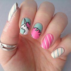 Nail art : Cute unicorn