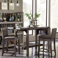Broyhill Furniture Bedford Avenue 5 Piece Round Table and