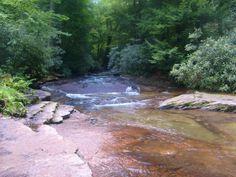 Adam Falls Trail at Linn Run State Park, in Ligonier, Pennsylvania. Tammiedunlap