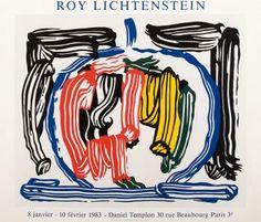 """#RoyLICHTENSTEIN Duo Poster """"Exhibition Galerie Daniel Templon"""" #Paris Silkscreen on paper 1983"""