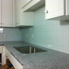 Prefab Granite Modern Backsplash Gray Natural Stone Also Single Backsplash Stainless Steel Sink For Attractive Blue White Ceramic Glass Subway Kitchen Tiles