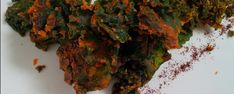 Camelina Oil-Infused Red Pepper and Nooch Kale Chips Cheesy Kale Chips, Red Peppers, I Love Food, Appetizers, Herbs, Stuffed Peppers, Oil, Farmers, Cooking