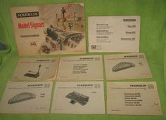 Lot of 8 Marklin Train Instruction Booklets Bridges, Signals, Track, X Switch