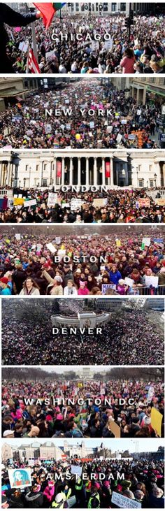 And so many more! Austin, my hometown had a big turn out. The one in Albuquerque did too. || Women's March, January 21, 2017