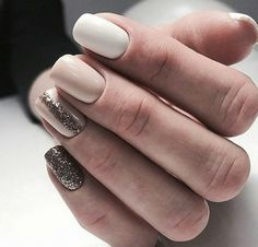 Having short nails is extremely practical. The problem is so many nail art and manicure designs that you'll find online Perfect Nails, Gorgeous Nails, Love Nails, Pretty Nails, My Nails, Nail Manicure, White Nails, Nails Inspiration, Style Inspiration