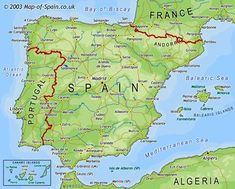 Map of Spain. Planning to travel to Barcelona, a few places in Southern Spain (need suggestions) and Morocco in early December. Send me your photos!