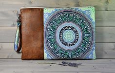 """Zipped Macbook Sleeve Laptop Case Holder MacBook Pro MacBook Air 11"""" 13"""" 15"""" 17"""" Brown Leather Blue Turquoise Green LIMITED EDITION"""
