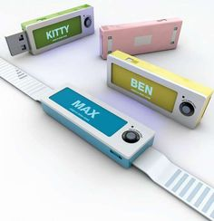Pet-s View. The compact gadget isn't much bigger than a flash drive and houses a camera, a retractable USB drive, memory and a heart rate sensor and interpreter. A band lined with solar cells keeps the hi-tech dog collar charged as the device snaps a photo with every pulse of your puppy's heart. The Pet's View image library can be easily accessed and browsed by plugging the stick into your computer.