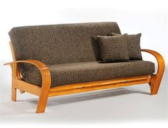 Montreal Full Futon Frame - Honey Oak Finish. Montreal Full Futon Frame Montreal imagine, after a full day of chasing that puck across the ice, what better place to chill (note to self may be a bad choice of word) than on our cozy corner of comfort. Be a biscuit in our.. . See More Futon Frames at http://www.ourgreatshop.com/Futon-Frames-C1037.aspx
