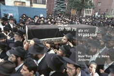 Casket containg body of Yankel Rosenbaum is carried by Hasidim during funeral in Crown Heights. Police Crime, Crown Heights, 7 Year Olds, Judaism, Black 7, Casket, Funeral, Carry On, Israel