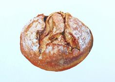 realist bread paintings by Heather McCaw