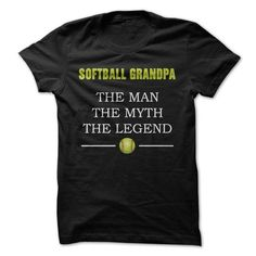 Softball Grandpa - #husband gift #day gift. MORE ITEMS => https://www.sunfrog.com/Sports/Softball-Grandpa.html?68278