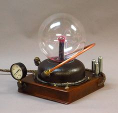 Steampunk Crystal Plasma Ball. $640.00, via Etsy.