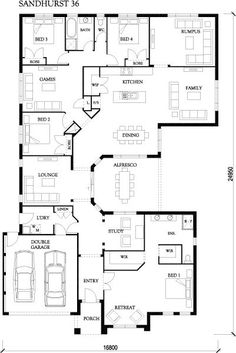 Sandhurst 36 - Large Designs - Eden Brae Homes