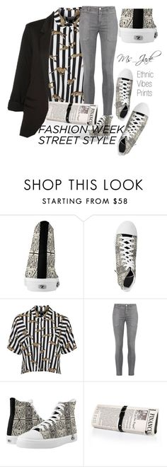 """Ethnic Vibes Street Style"" by ms-jade-1 ❤ liked on Polyvore featuring Topshop, Current/Elliott, Papà Razzi, StreetStyle, NYFW and ms_jade"