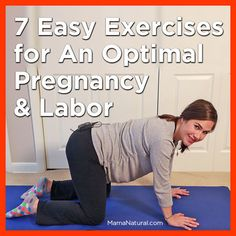 7 easy #exercises for an optimal #pregnancy and #labor via http://MamaNatural.com