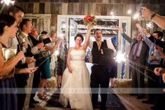 Wedding Exit | Sparklers | Bull Run Winery Wedding VA