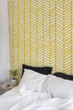Herringbone Wallpaper, Removable Wallpaper, Nursery Decor, Peel and Stick Wallpaper, Removable, Wall #bestwallpaperremoval