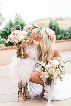 Featured Photographer: Valorie Darling Photography; wedding flower girl dresses