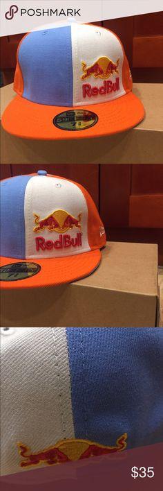 Red Bull 'Pinwheel' Cap Brand New Unworn- Red Bull 'Pinwheel' Fitted Cap Accessories Hats