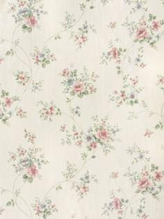 Charmant Rasch Textil Satintapete Country Charm 298429 Rosen Rosa Blau Online  Bestellen