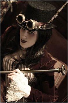 Steampunk Goth Girl